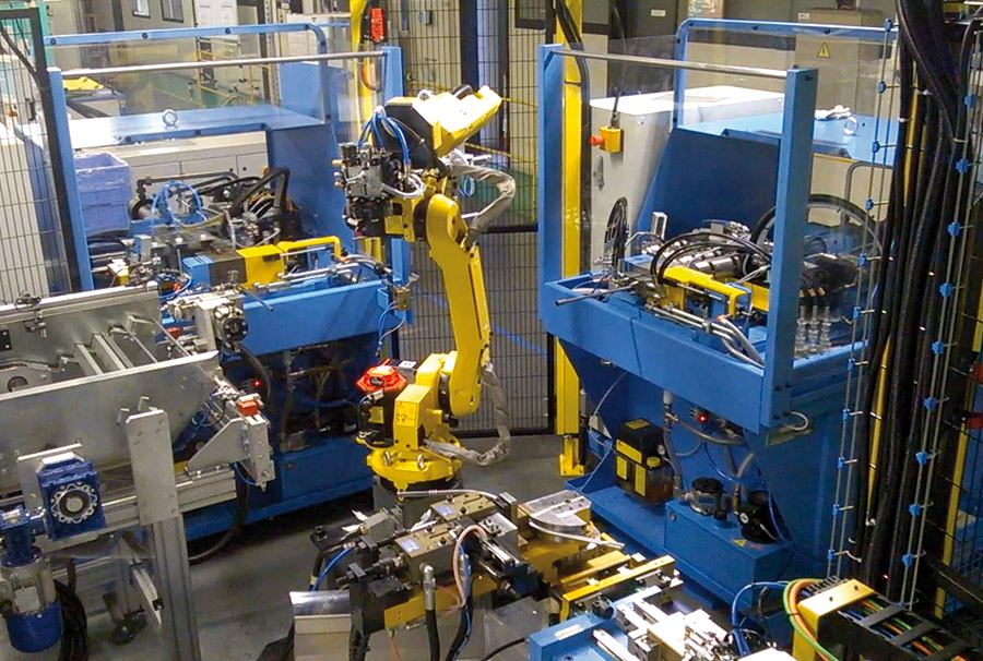 systeme de production sab industries - ilot machines